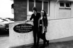 Calum and Niamh Outside the Politician before the gig